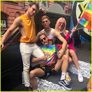 Tommy Dorfman & Brandon Flynn Celebrate Pride In New York