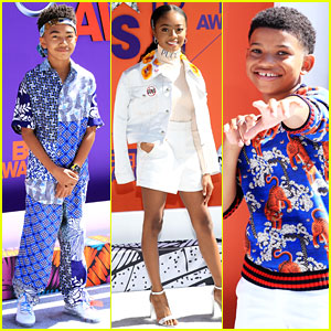 Miles Brown, Skai Jackson, & Lonnie Chavis Step Out in Style for BET Awards 2018!