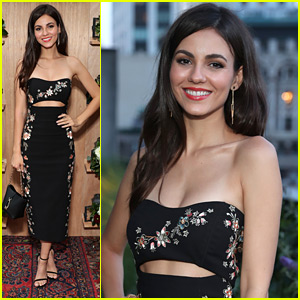 Victoria Justice Steps Out in Style For Saks With Platinum Benefit Party