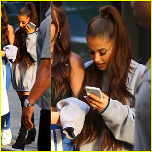 Ariana Grande Spends Some Time at the Studio in NYC