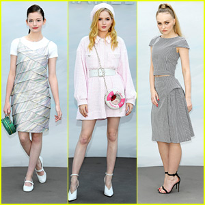 Mackenzie Foy Shimmers in Silver at Chanel Haute Couture Fashion Show in Paris