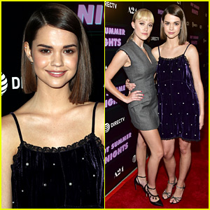 Maia Mitchell Joins Maika Monroe & Alex Roe For 'Hot Summer Nights' Premiere