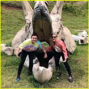 Meghan Trainor & Daryl Sabara Go To Jurassic Park For Anniversary