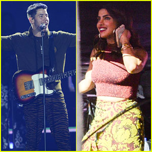 Nick Jonas Gets Support From Girlfriend Priyanka Chopra at VillaMix Festival
