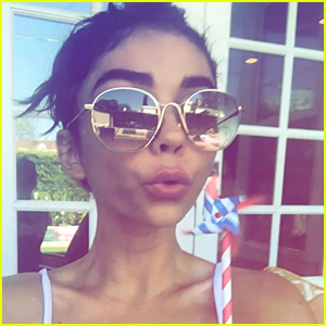 Sarah Hyland Celebrates the Fourth of July With Cute Selfies - See the Pics!