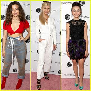 Sarah Jeffery, Loren Gray, Sky Katz, & More Attend Beautycon 2018!