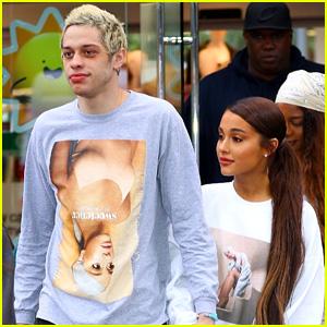 Ariana Grande's Fiance Pete Davidson Wears Her Merch!