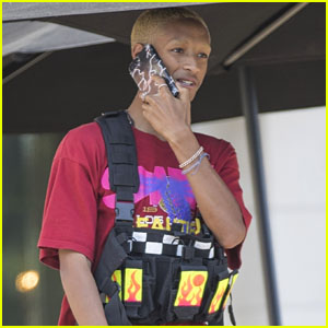Jaden Smith Wears an Ammo Vest While Chatting on the Phone in Calabasas!