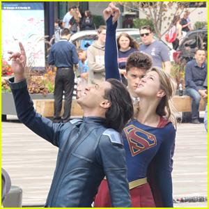 Melissa Benoist & Jesse Rath Film Scenes for New 'Supergirl' Season
