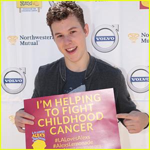Nolan Gould Helps Raise Funds For Child Cancer Research at LA Loves Alex's Lemonade Event
