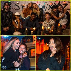 Paris Berelc, Maddie Ziegler, Kelli Berglund & More Hit Halloween Horror Nights Attraction