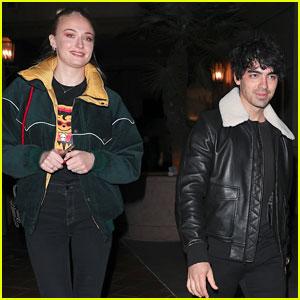 Joe Jonas & Fiancee Sophie Turner Grab Dinner After Hitting the Club!
