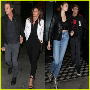 Kaia & Presley Gerber Have Family Dinner With Their Parents!