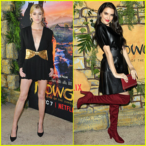 Katherine McNamara & Lilimar Step Out in Style For 'Mowgli: Legend of the Jungle' Premiere