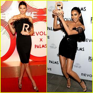 Kendall Jenner & Shay Mitchell Slay in Black Dresses at Revolve Awards!