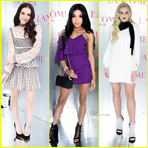 Lilimar & Chloe Lukasiak Glam Up For Lancome & Vogue's Holiday Party