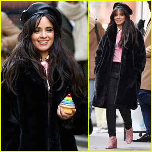 Camila Cabello Has the Best Time Filming New Commercial in NYC!