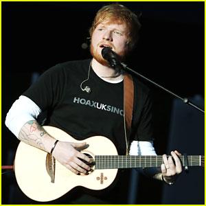 Ed Sheeran Wears Wedding Ring at Global Citizen Festival: Mandela 100?