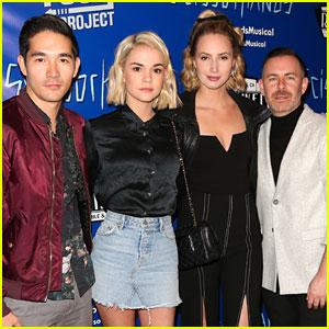 Maia Mitchell & 'Good Trouble' Cast Support EP Bradley Bredeweg & Co-Star Emma Hunton at 'Edward Scissorhands' Musical