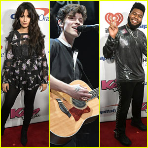 Camila Cabello is Pretty in Floral-Print at KISS 108's Jingle Ball 2018