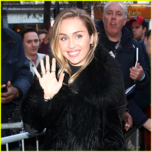 Miley Cyrus Promotes Her New Song With Mark Ronson in London!