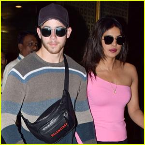 Nick Jonas Holds Hands with Priyanka Chopra as They Arrive in Mumbai