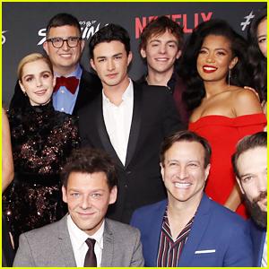 Kiernan Shipka Shares Fun 'Sabrina' Cast Pic Wrapped Up in Christmas Onesies