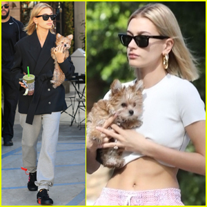 Hailey Bieber Spends the Day with Little Pup Oscar!