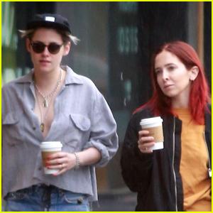 Kristen Stewart & Rumored Girlfriend Sara Dinkin Brave the Rain on Coffee Run!