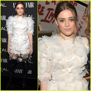 Josephine Langford Shows Her Style at Vanity Fair's Pre-Oscar Party!