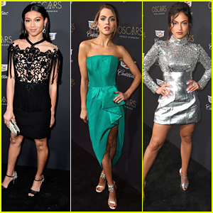 'On My Block' Star Sierra Capri Hits First Oscar Party With Anne Winters, Inanna Sarkis & More