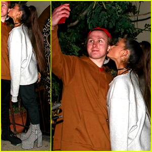 Ariana Grande Dons Black & White Platform Heels for Night Out With Friends