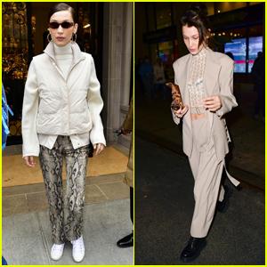 Bella Hadid Rocks Snakeskin Pants in NYC!