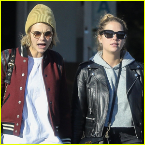 Cara Delevingne Grabs Lunch with Ashley Benson in WeHo