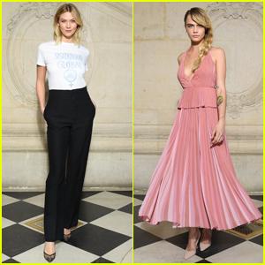 Karlie Kloss & Cara Delevingne Look Chic at Dior Fashion Show!