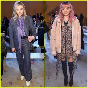 Chloe Moretz & Maisie Williams Step Out for Coach's Fashion Show!