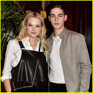 After's Hero Fiennes Tiffin Meets Up with Gabriella Wilde at Ferragamo Dinner