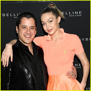 Gigi Hadid Goes Orange at Maybelline's NYFW Party