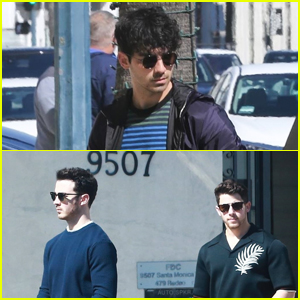 The Jonas Brothers Get Fitted for Suits Before Oscars 2019!