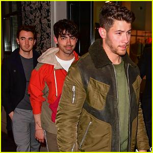 Nick, Joe, & Kevin Jonas Get Dinner Before New Song Release!
