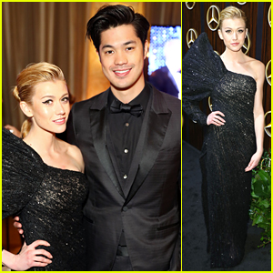 Katherine McNamara Was Fashionable & Fierce at Mercedes-Benz USA Awards Viewing Party For The Oscars