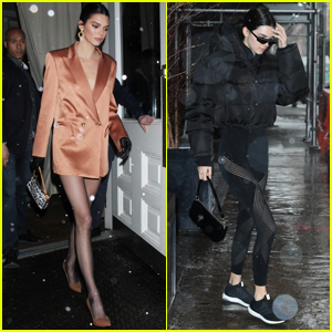 Kendall Jenner Steps Out During the Snow Storm in NYC