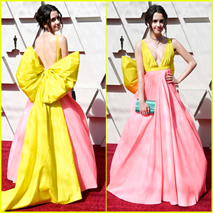 Laura Marano Wears Giant Yellow Bow on Her Dress For First Oscars
