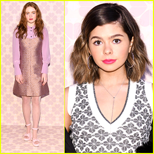 Sadie Sink Joins Addison Riecke Front Row at Kate Spade New York's NYFW Show