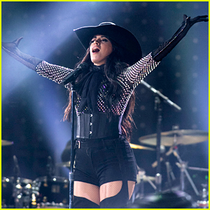 Camila Cabello Wears Cowboy Hat During Houston Rodeo Performance
