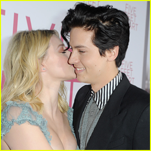 Lili Reinhart Gives Cole Sprouse a Sweet Kiss at 'Five Feet Apart' Premiere
