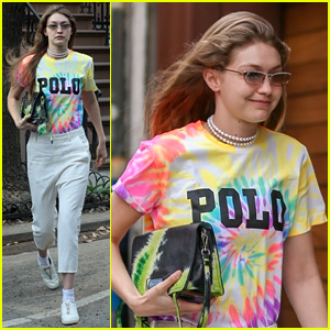 Gigi Hadid Keeps It Colorful While Heading Out in the Big Apple