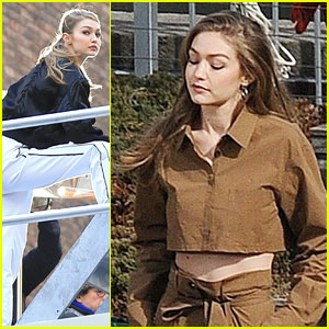 Gigi Hadid Takes Part In Two Photo Shoots Ahead of Weekend