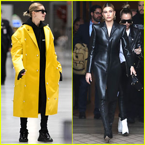 Hailey Bieber Makes it To Paris For Last Few Days of Paris Fashion Week