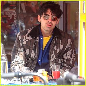 Joe Jonas Gets Some Fresh Air While Enjoying a Solo Lunch